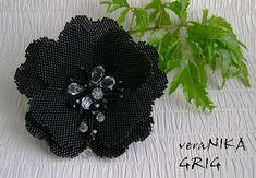 """брошь """"Чёрный цветок"""""""