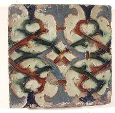 Tile, Seville, Spain; ceramic, 16th-17th century