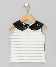 Take a look at this Gray Stripe Tank - Toddler & Girls by Kana on #zulily today!