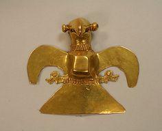 Cast Gold Eagle Pendant    Date:      11th–16th century  Geography:      Costa Rica, Herrera province, Rio Parita  Culture:      Chiriqui  Medium:
