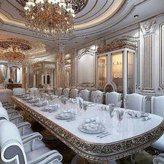 𝓁𝑜𝓋𝑒 𝓂𝓎 𝓅𝒾𝓃𝓈? ツ follow| ♡ ♕ @sbabee3 3 3 3   inbox  for  credit #𝒾𝓃𝓉𝑒𝓇𝒾𝑜𝓇𝒹𝑒𝓈𝒾𝑔𝓃 #𝒽𝑜𝓂𝑒𝒹𝑒𝒸𝑜𝓇 #𝑔𝑜𝓇𝑔𝑒𝑜𝓊𝓈 #𝒹𝑒𝓈𝒾𝑔𝓃 #𝒻𝒶𝓈𝒽𝒾𝑜𝓃 #𝑔𝓁𝒶𝓂𝑜𝓊𝓇 #𝓈𝓉𝓎𝓁𝑒 #𝓁𝓊𝓍𝓊𝓇𝓎 Dining Room Design, Elegant Dining Room, Luxury Dining Room, Luxury Interior Design, Luxury Home Decor, Luxury Homes, Dinner Room, Drawing Room, Pent House