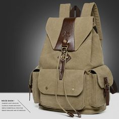 mulheres homens de grande capacidade mochila de viagem mochila de lona
