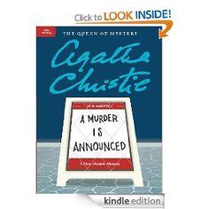A Murder is Announced by Agatha Christie a Miss Marple mystery