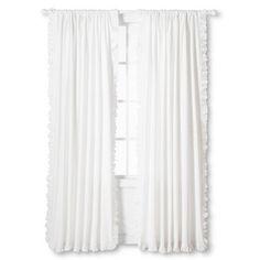 Rufflle Edge Window Panel