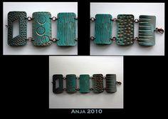 Bracelet blues & bronze   Flickr - Photo Sharing!