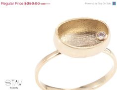ON SALE Gold ring diamond ring Modern jewelry by StavFineJewelry, $304.00