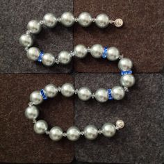 Shell Pearl and Crystal Necklace