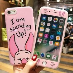 For iphone 7 Cartoon Mickey phone Cases Cover + Tempered Glass Screen Protector Case for Apple iPhone 6 Plus 8 X Iphone Cases Disney, Iphone Phone Cases, Iphone 3, Cell Phone Covers, Cute Cases, Cute Phone Cases, Coque Iphone 6s Disney, Apple Iphone 6, Capas Iphone 6