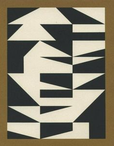 """""""Compositon"""" by Gunnar Aagaard Anderson, 1957 Hard Edge Painting, Acrilic Paintings, Neutral Art, Black And White Abstract, Black White, Popular Art, Op Art, State Art, Sculpture Art"""