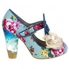 Can't Touch This Floral Print Heels by Irregular Choice
