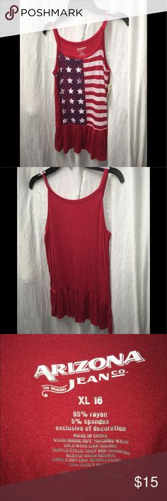 Arizona Jeans Girls American Flag Tank Top Excellent condition. Smoke free home. Don't like the price? Make an offer! Arizona Jean Company Tops Tank Tops