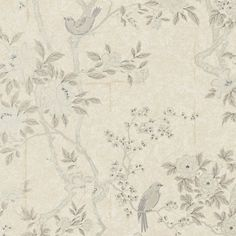 Marlowe Floral - Mother of Pearl - Archival English Papers II - Wallcovering…