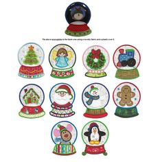 HAVE Snowglobes Christmas Applique Machine Embroidery Designs Local Embroidery, Best Embroidery Machine, Embroidery Store, Japanese Embroidery, Silk Ribbon Embroidery, Hand Embroidery Patterns, Embroidery Applique, Machine Embroidery Designs, Embroidery Files