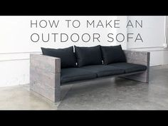 DIY a sturdy, modern outdoor sofa in just a few steps with HomeMade Modern.
