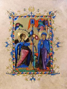 Armenian Miniatures - GALLERY Art Thou, Wishing Well, Illuminated Manuscript, Armenia, Mary, Miniatures, Gallery, Painting, God
