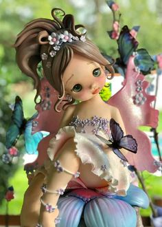 me ~ Best 12 Herend Porcelain China Key: 4591172643 – SkillOfKing. Polymer Clay Sculptures, Polymer Clay Dolls, Polymer Clay Miniatures, Polymer Clay Charms, Sculpture Clay, Fondant Figures, Clay Figures, Diy Fimo, Fairy Figurines
