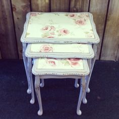 Shabby Chic Nest of tables. Would love to know how to do this!