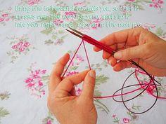 Heidi Bears: Judy's Magic Cast-On and Magic Loop Knitting: Tutorial 1 – Knitting Socks Magic Loop Knitting, Knitting Help, Knitting Stiches, Knitting Socks, Hand Knitting, Knitting Patterns, Beginner Knitting, Knit Socks, Judys Magic Cast On