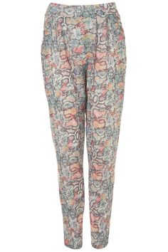 Coloured Snake Jersey Trousers #topshop