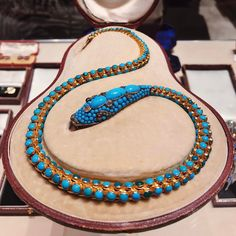 "Levi Higgs on Instagram: ""One of the best Victorian turquoise snakes I've seen in a while, this one from @alavieillerussie at @tefaf_art_fair #TEFAF30 """