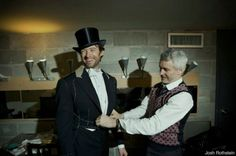 Hugh and Baz at a fitting for Hugh's Oscar musical performance costumes. Hugh Michael Jackman, Hugh Jackman, Baz Luhrmann, Broadway Stage, My Confession, The Greatest Showman, Recording Studio, Film Director, Me Me Me Song