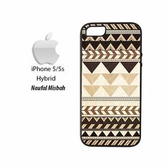 Brown Tribal Pattern Aztec Vintage Indian iPhone 5/5s HYBRID Case Cover