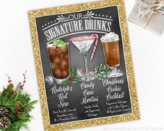 Hey, I found this really awesome Etsy listing at https://www.etsy.com/listing/492690189/trio-of-drinks-holiday-themed-wedding