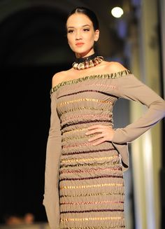 To see more of Erika's unique designs featured on runways across the world, visit our facebook page (Romani Design) or www.romanidesign.hu! Erika, Runway, Facebook, Unique, Design, Cat Walk, Walkway