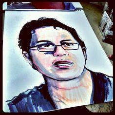 Portrait marker illustration.email mohdredza04@gmail.com