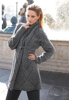 Madeleine Grey Knit Cardigan