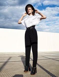 Bekah Jenkins Dons Menswear Inspired Style for Zoltan Tombor in Schon