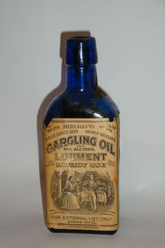 gargling oil? Did you notice the alcohol content..uh huh :))