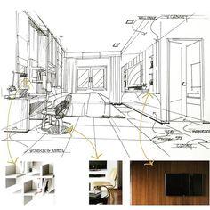 Bedroom 1 #interior #sketch #ref #Design