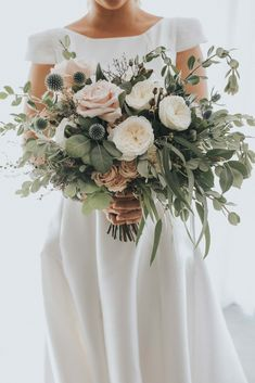 35 Trending Floral Greenery Wedding Ideas for 2019 : stunning blush greenery wedding bouquets with thistles Sage Green Wedding, Red Wedding, Wedding Colors, Wedding Styles, Spring Wedding, Elegant Wedding, Perfect Wedding, Wedding Flower Guide, White Wedding Bouquets