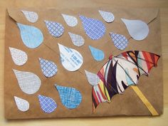use security envelopes to make pretty 'raindrops' for your letters and envie art!