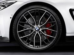 """BMW M Performance Double-Spoke 405M/ 20"""" Forged Wheels with Tires Complete Set"""