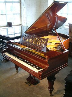 An 1882, Bechstein grand piano for sale with a polished, rosewood case at Besbrode Pianos