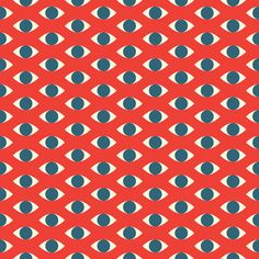 The Eyes Have It Art Print #pattern #seamless