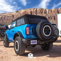 """The Bronco Nation on Instagram: """"The Bestop Fastback style top looks so good on the 2-door! 😍 Velocity Blue certainly helps too... #Bronco #TheBroncoNation"""" Ford Bronco, Broncos, Top, Blue, Instagram, Style, Swag, Ford Bronco Lifted, Crop Shirt"""