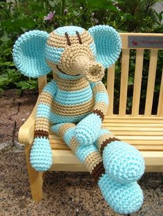 Elija, crochet Elephant ♥