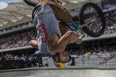 Photographer Christian Pondella couldn't get any closer than he did here while taking this shot of Daniel Sandoval in action at the BMX Park finals at the Summer X Games in Austin, Texas, in June.