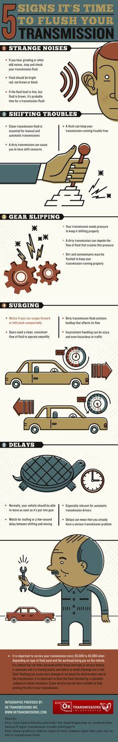 car's transmission needs pressure to keep it shifting properly. A dirty transmission can impede the flow of fluid that creates this pressure. Take a look at this Broken Arrow diesel transmission repair infographic to learn more. Veneno Roadster, Sesto Elemento, Car Care Tips, Driving Tips, Car Hacks, Hacks Diy, Diy Car, Car Tuning, Car Cleaning