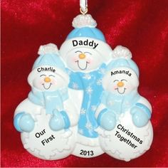 Single Parent First Christmas with 2 Children | Hand Personalized Christmas Ornaments by Russell Rhodes Family Christmas Ornaments, Family Ornament, Baby Ornaments, Personalized Christmas Ornaments, Christmas Baby, Diy Resin Crafts, Single Parenting, Parenting Tips, Grandparent Gifts