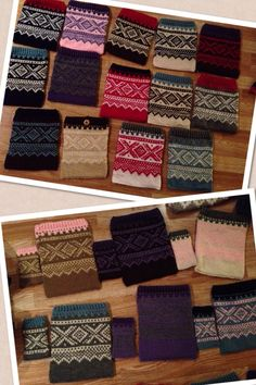 Knitted iPhone and iPad covers.