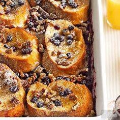 Baked Blueberry-Pecan French Toast