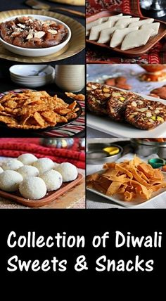 Collection of Sweets & Savory Snacks for Diwali Healthy Indian Recipes, Indian Dessert Recipes, Indian Snacks, Sweets Recipes, Cooking Recipes, Indian Foods, Indian Sweets, Ethnic Recipes, Diwali Snacks
