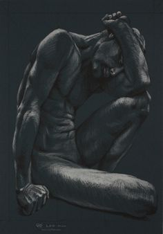 Figure 14, Leo Plaw, 24 x 34cm, pastel pencil on coloured paper #art #drawing #figurativeart