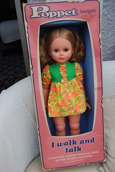 1970s Bradgate Palitoy large talking/ walking Poppet doll in box. | 38+3.78