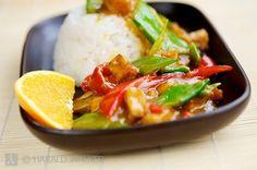 Spicy Tofu with Veggies and Orange Sauce