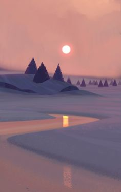 ArtStation - Snowy Landscape, Allison Perry